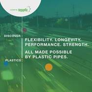 Logo - TEPPFA Discover: Plastics celebrates the flexibility, longevity and strength of plastic pipes – as well as their ease and speed of installation – drawing on more than 20 years of independent research